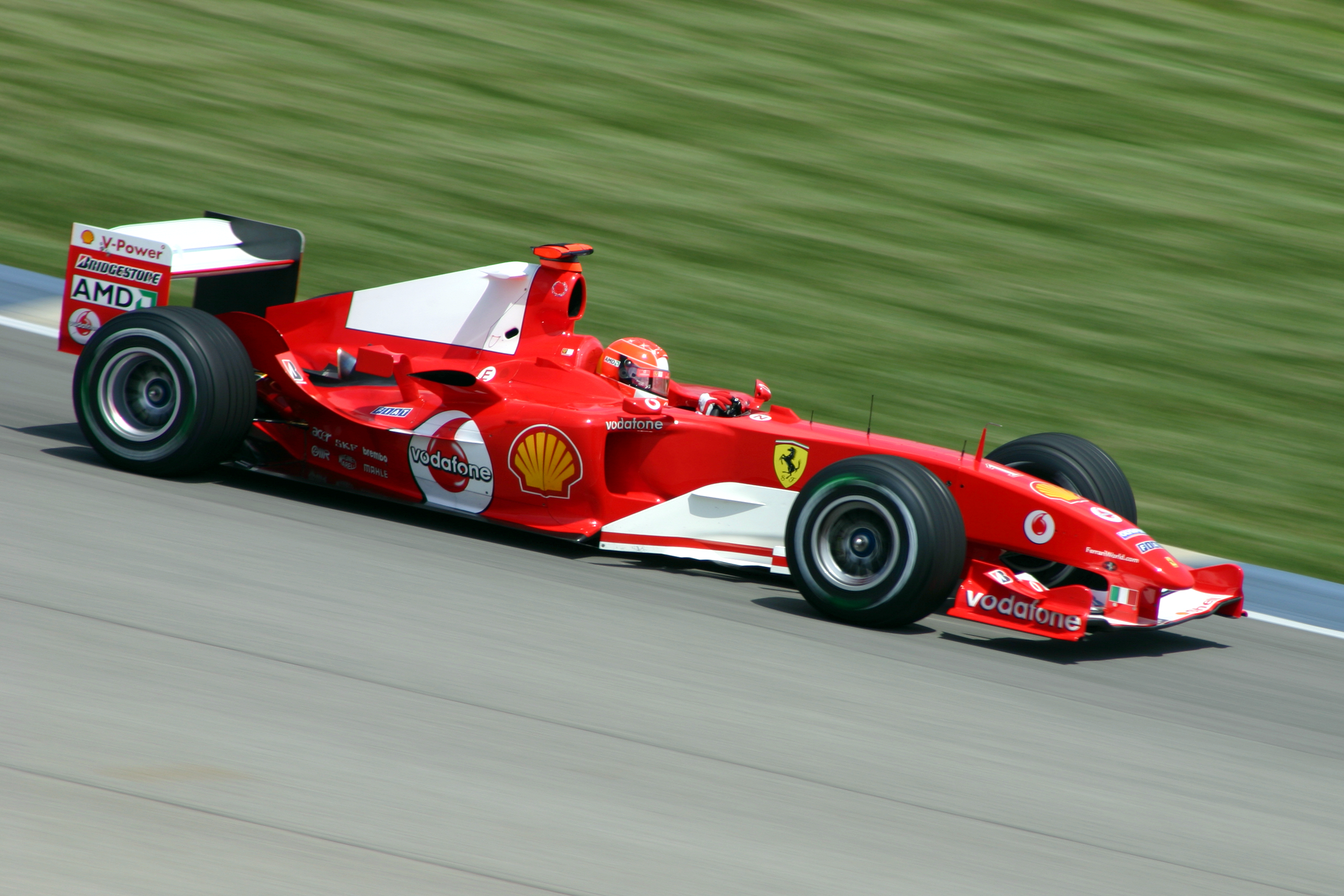 File Michael Schumacher Ferrari 2004 Jpg Wikimedia Commons