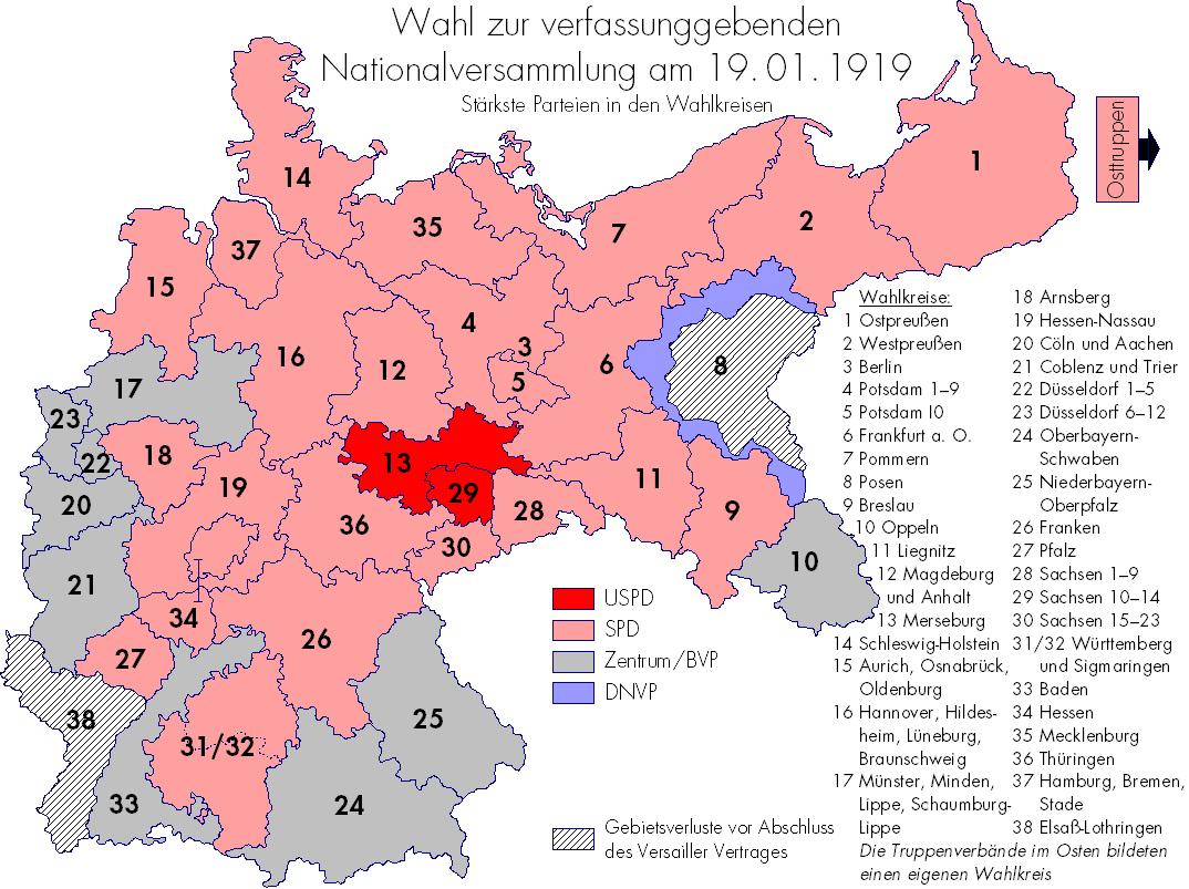 district auf deutsch