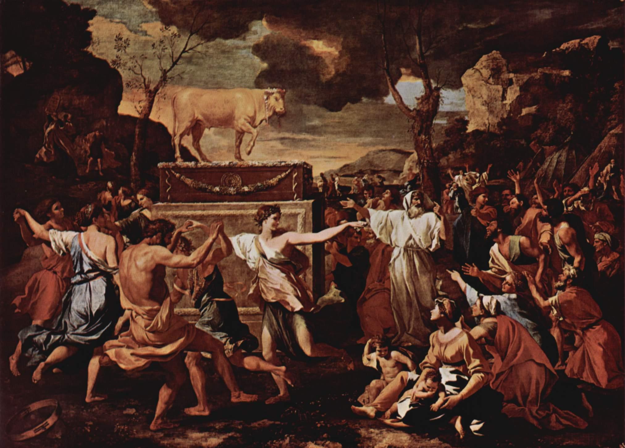 File:Nicolas Poussin - The Adoration of the Golden Calf alt.jpg