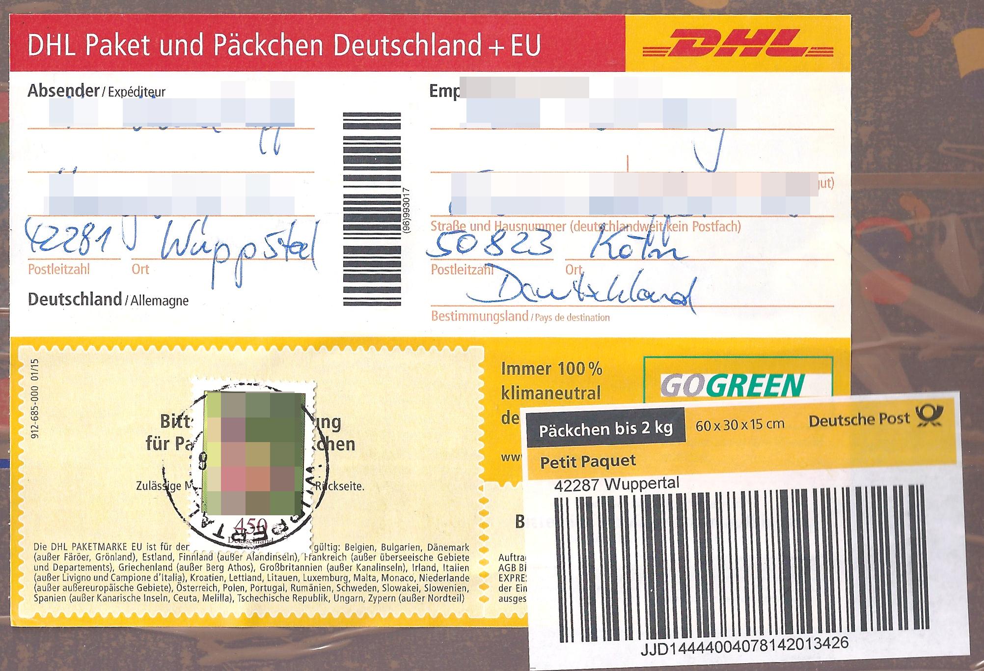 Päckchen Mit Briefmarken Frankieren