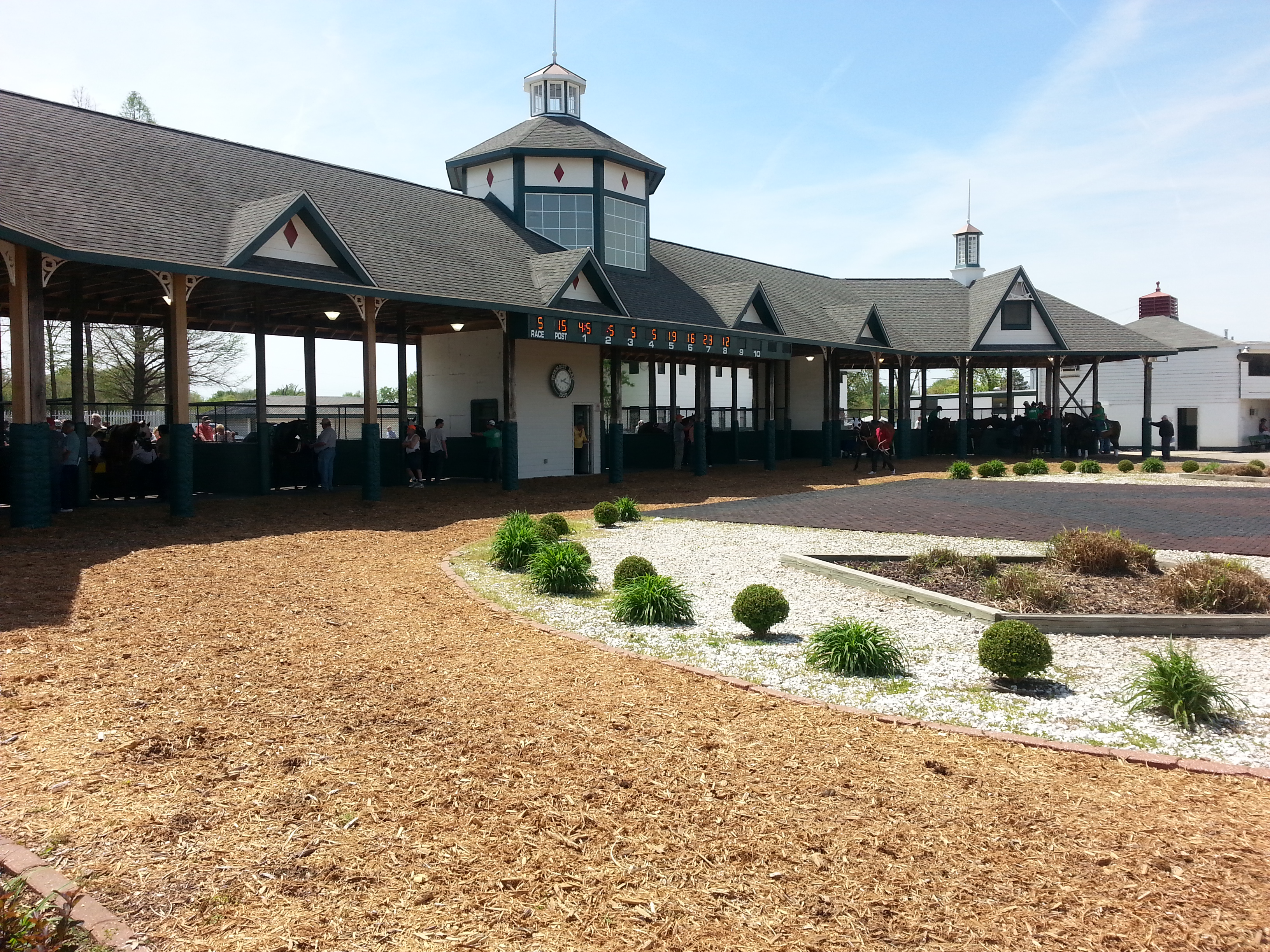 View of the paddock at Fairmount Park Horse Race Track in Collinsville, Illinois
