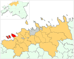 Location of Paldiski