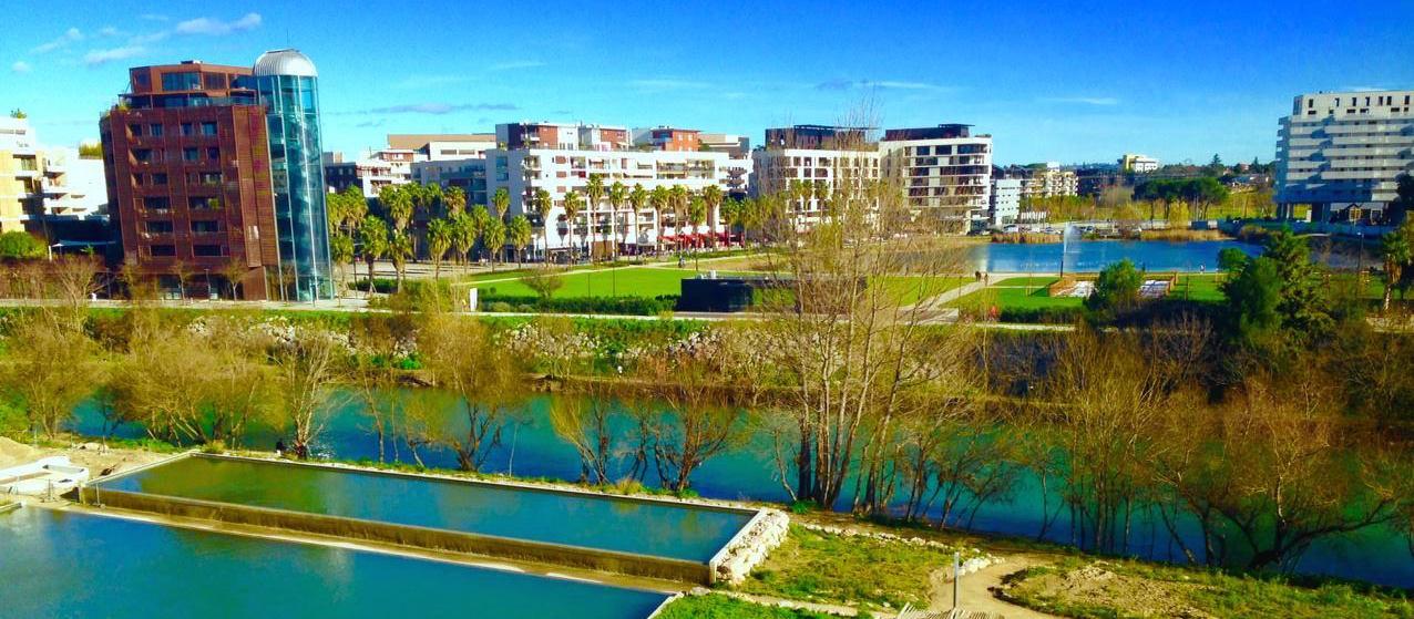 Panorama de Jacques Coeur, quartier Port Marianne à Montpellier