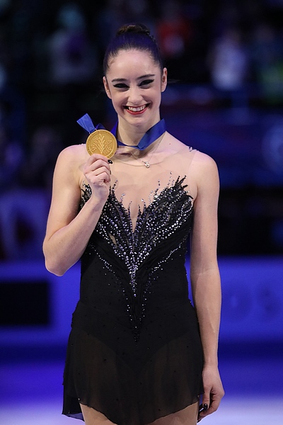 Photos – World Championships 2018 – Ladies (Medalists) (2)