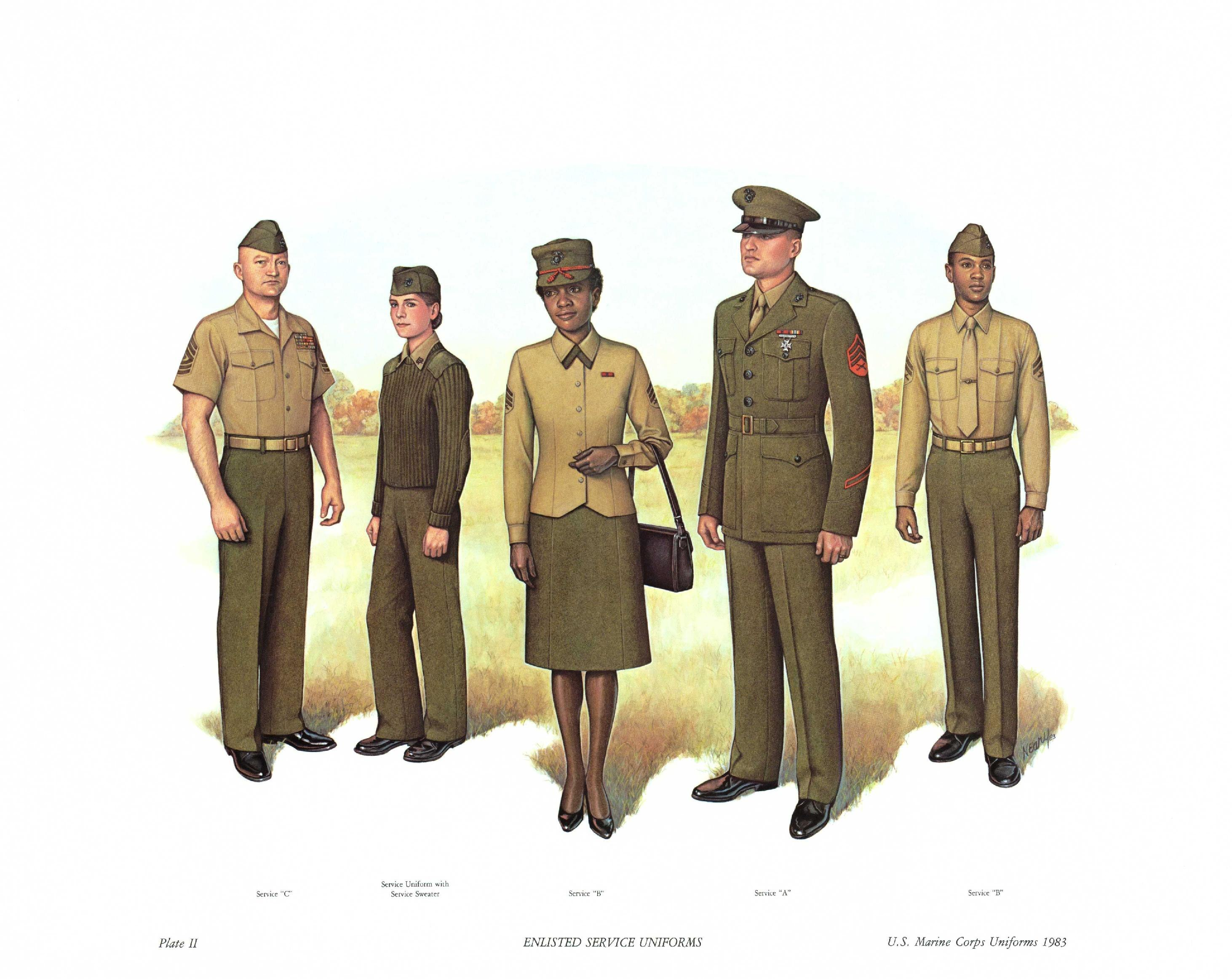 FilePlate II Enlisted Service Uniforms