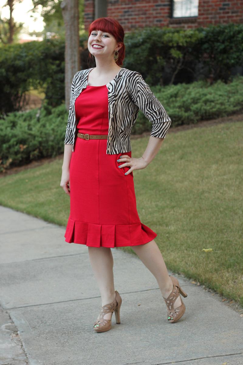 Cardigan Sheath Dress
