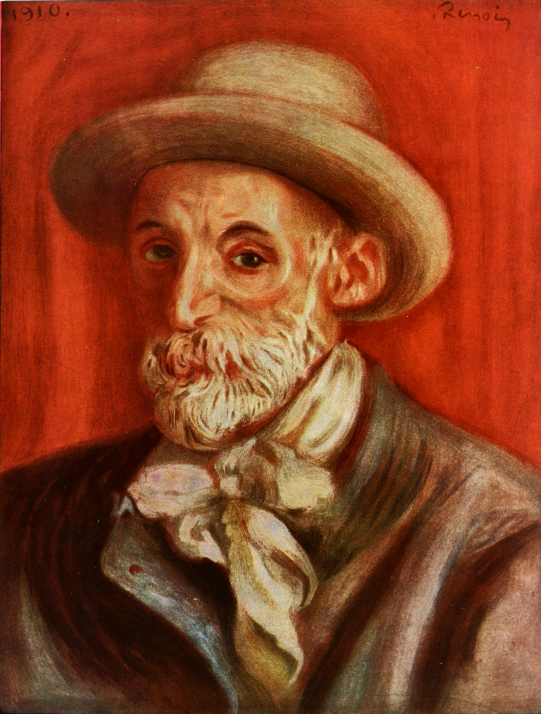 Description renoir self portrait 1910
