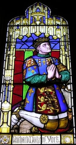 le duc Richard,représenté sur un vitrail de l'église St. Laurence à Ludlow