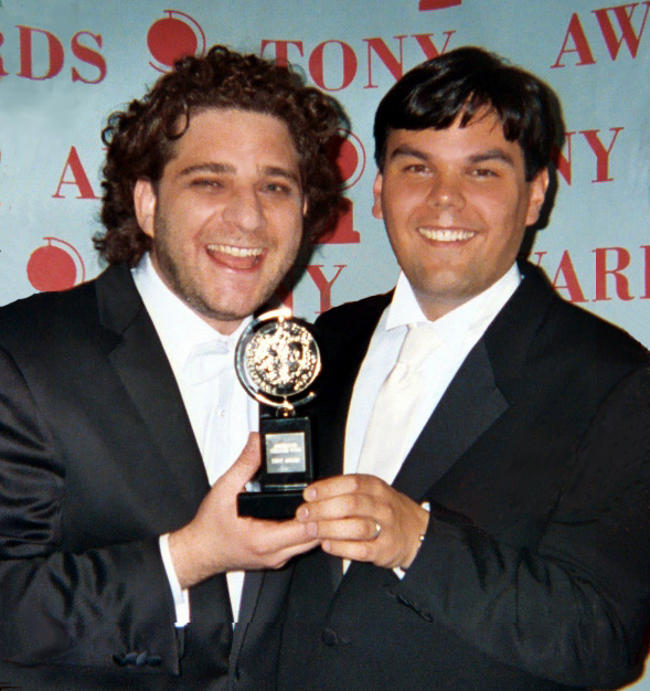 Photo of Robert Lopez & his friend  Jeff Marx