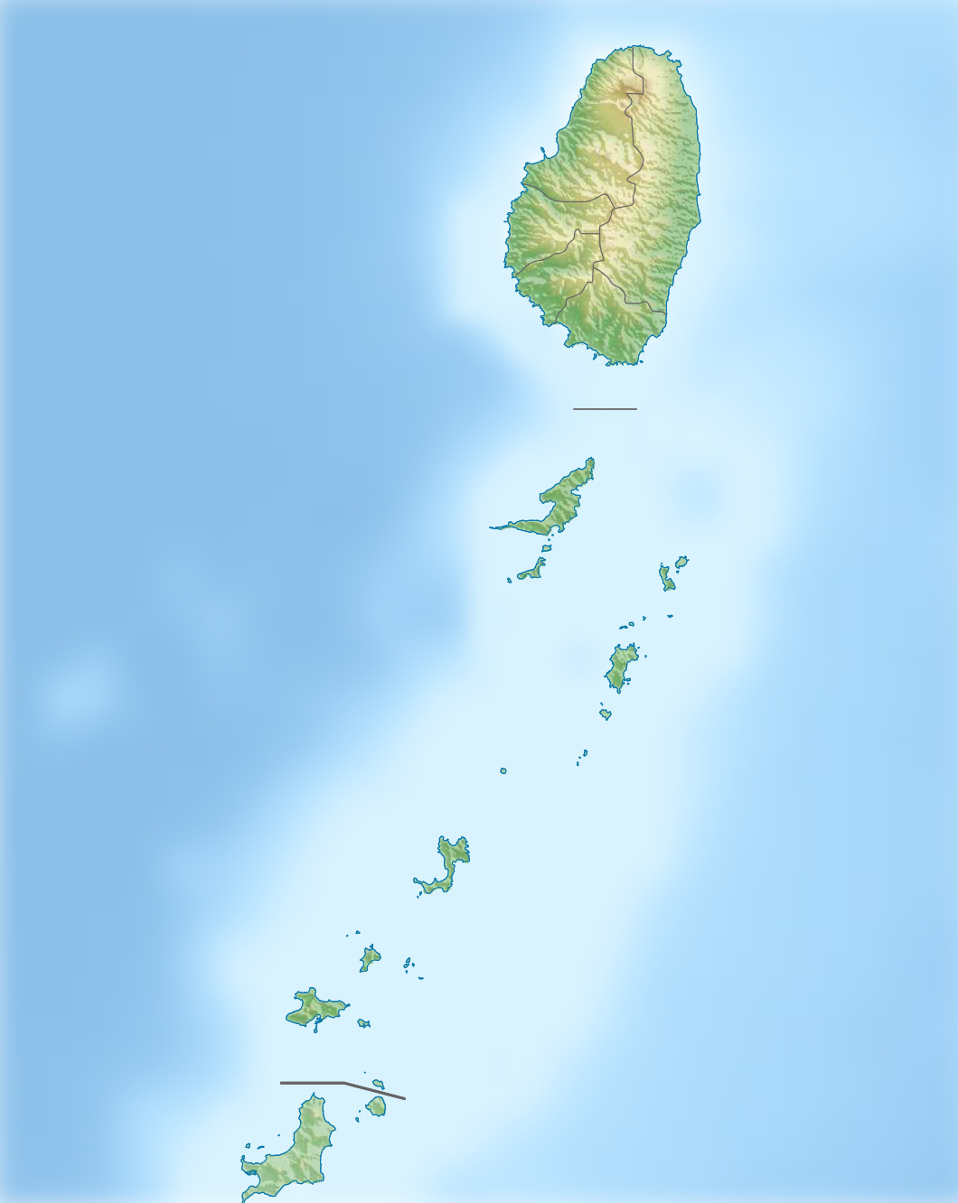 FileSaint Vincent And The Grenadines Relief Location Mapjpg - Saint vincent and the grenadines map
