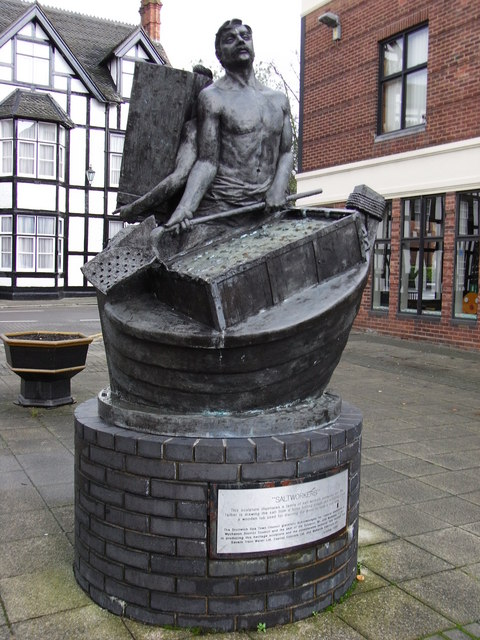 Salt Of The Earth >> File:Salt workers' statue, Victoria Square, Droitwich - geograph.org.uk - 638481.jpg - Wikimedia ...
