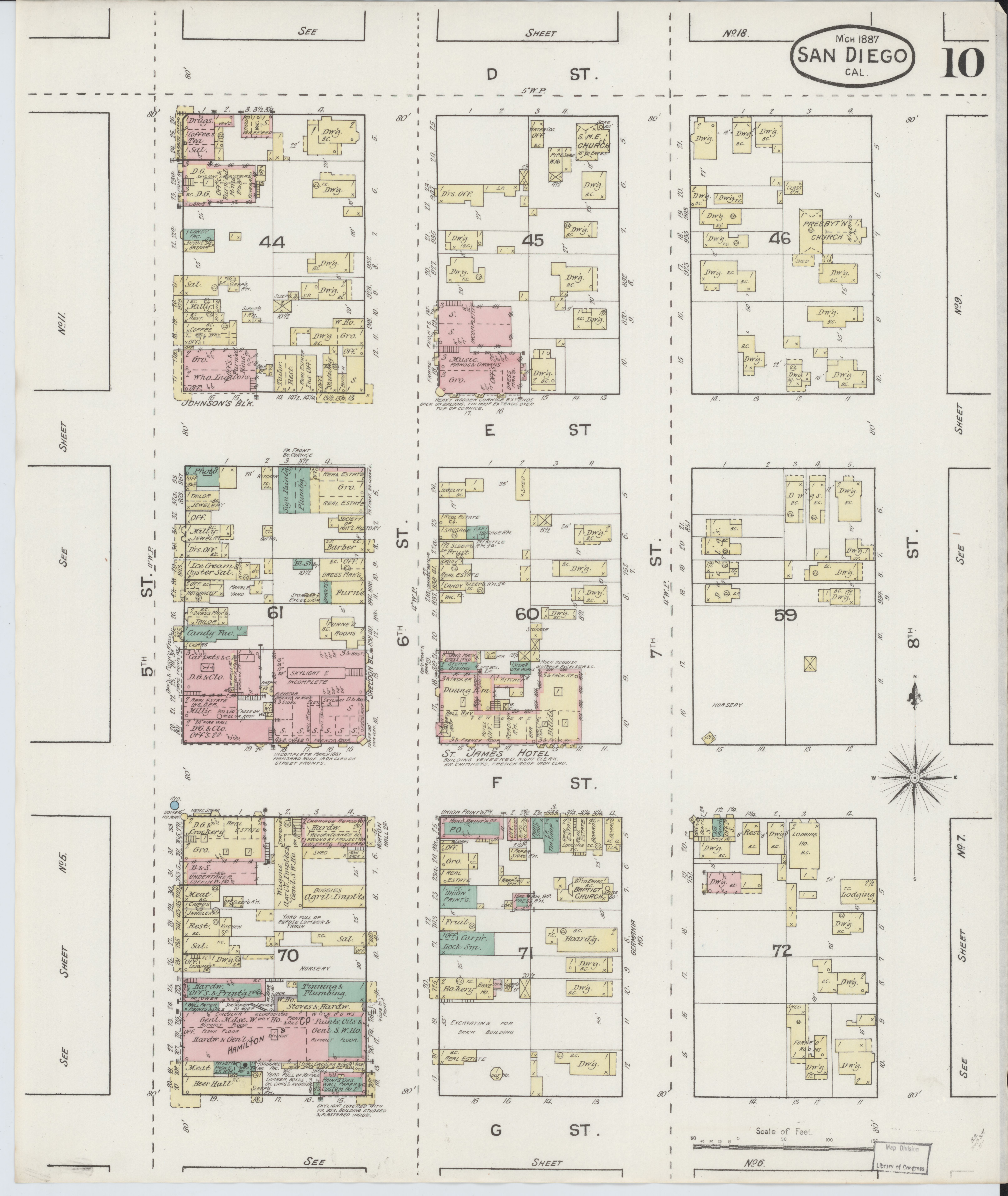 File:Sanborn Fire Insurance Map from San Diego, San Diego