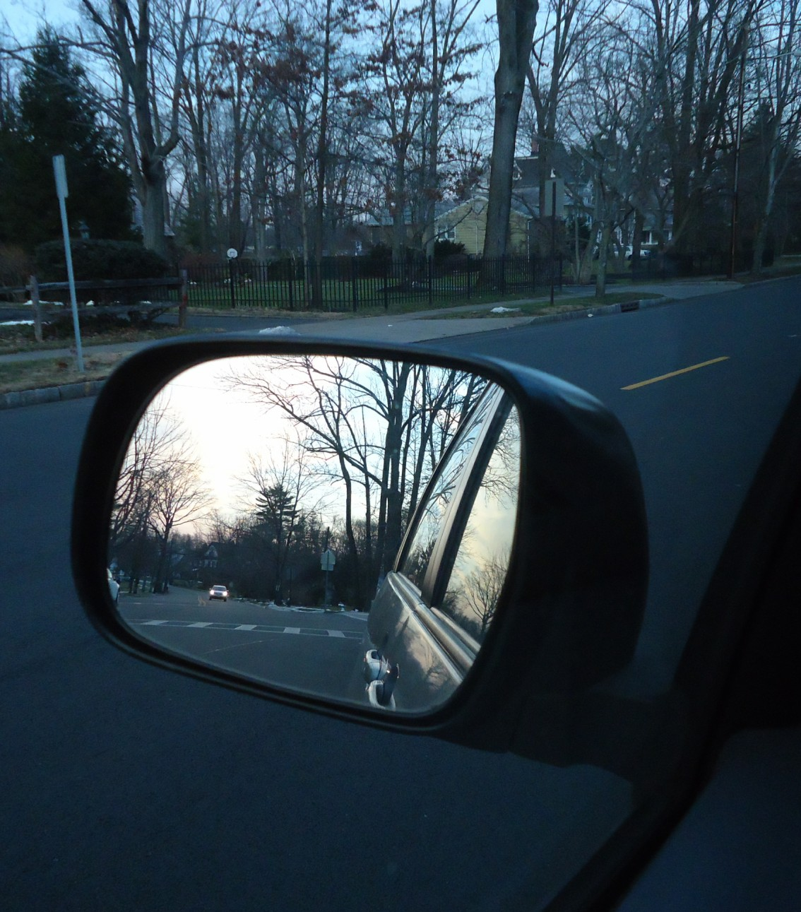 File Scene In The Rear View Mirror Of A Car Jpg