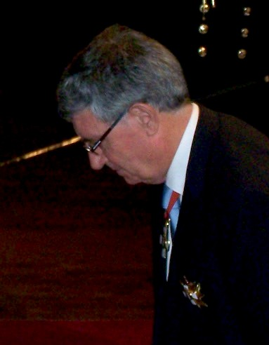 Callaghan being knighted in 2009