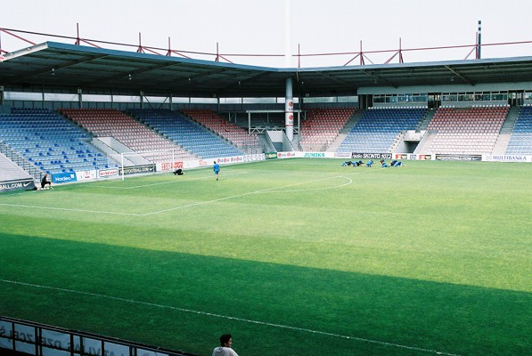 Latvia vs Switzerland will take place at the Skonto Stadions in Riga. (By Aserjeant at English Wikipedia, CC BY 2.5)