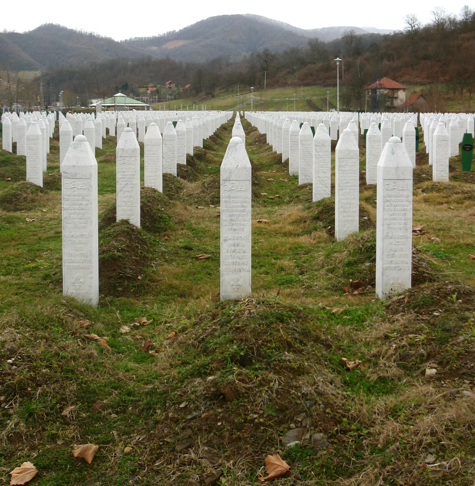 Memorial Photos For Gravestones http://en.wikipedia.org/wiki/File:Srebrenica_massacre_memorial_gravestones_2009_3.jpg