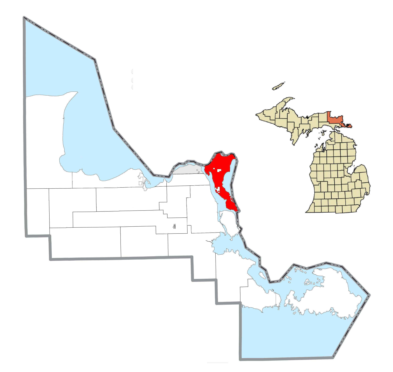 sugar island michigan map Sugar Island Township Michigan Wikipedia