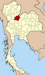 ピッサヌローク県の位置