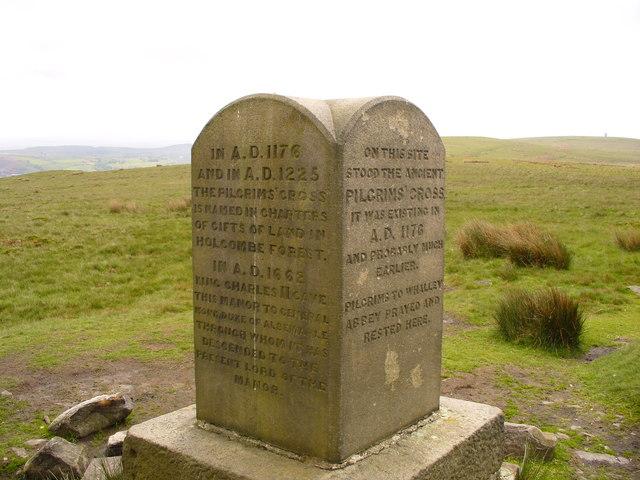 "The ""Pilgrim's Cross"" Holcombe - geograph.org.uk - 482543"