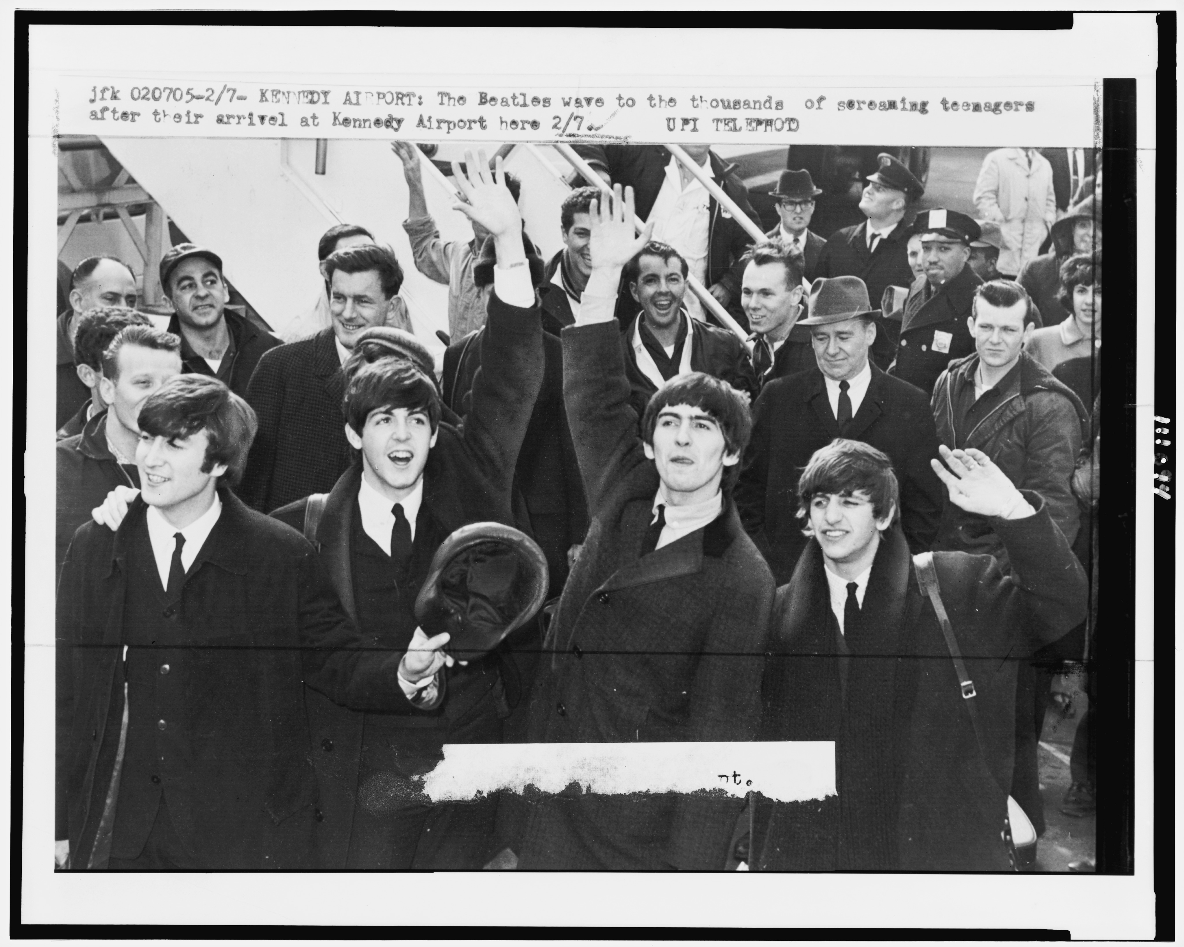 The Beatles, Kennedy Airport, February 1964