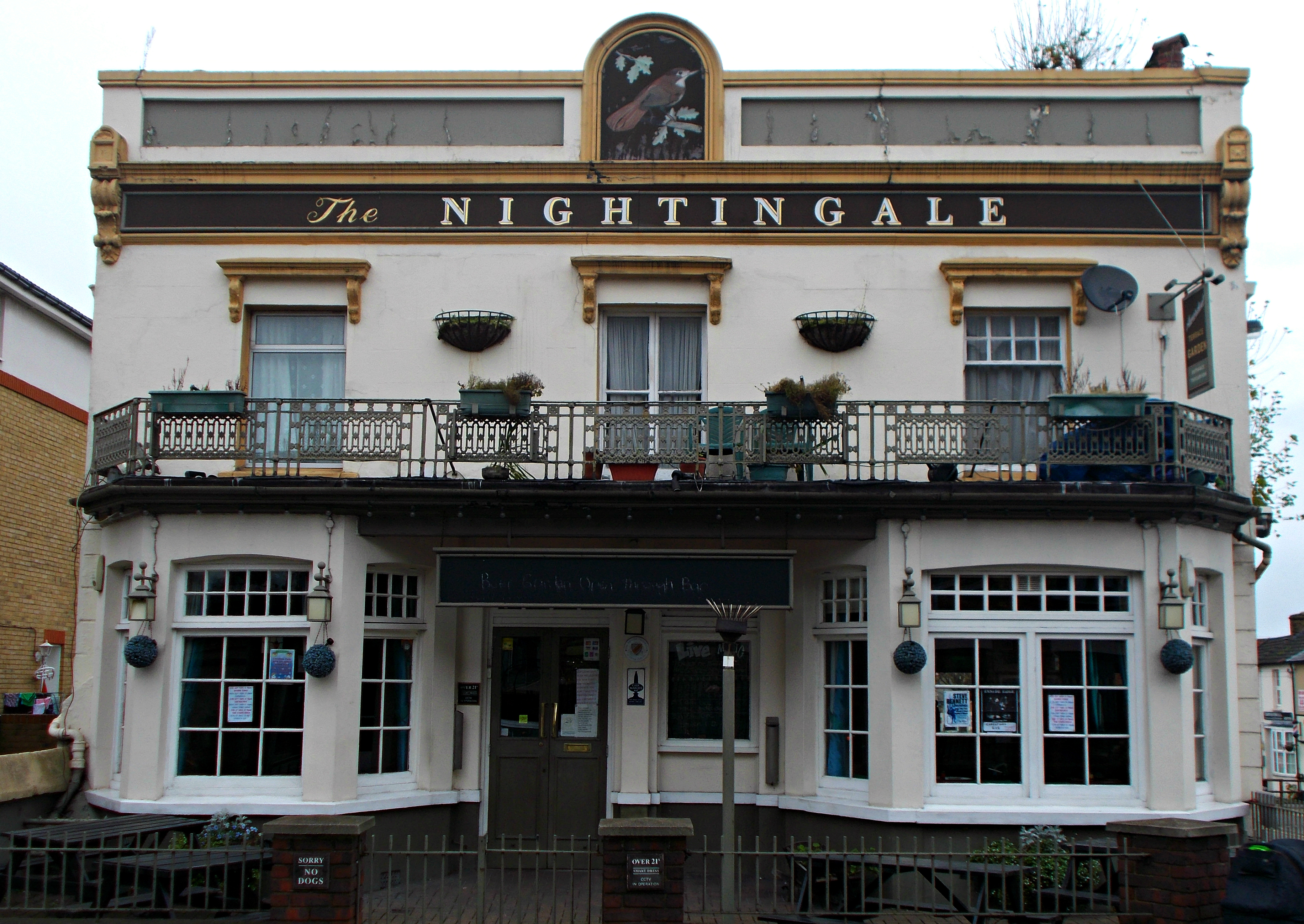 The Nightingale pub, formerly the Jenny Lind, named after a famous Swedish  opera singer