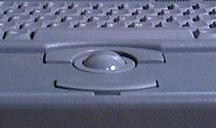 Manipulator kulowy w komputerze Macintosh PowerBook