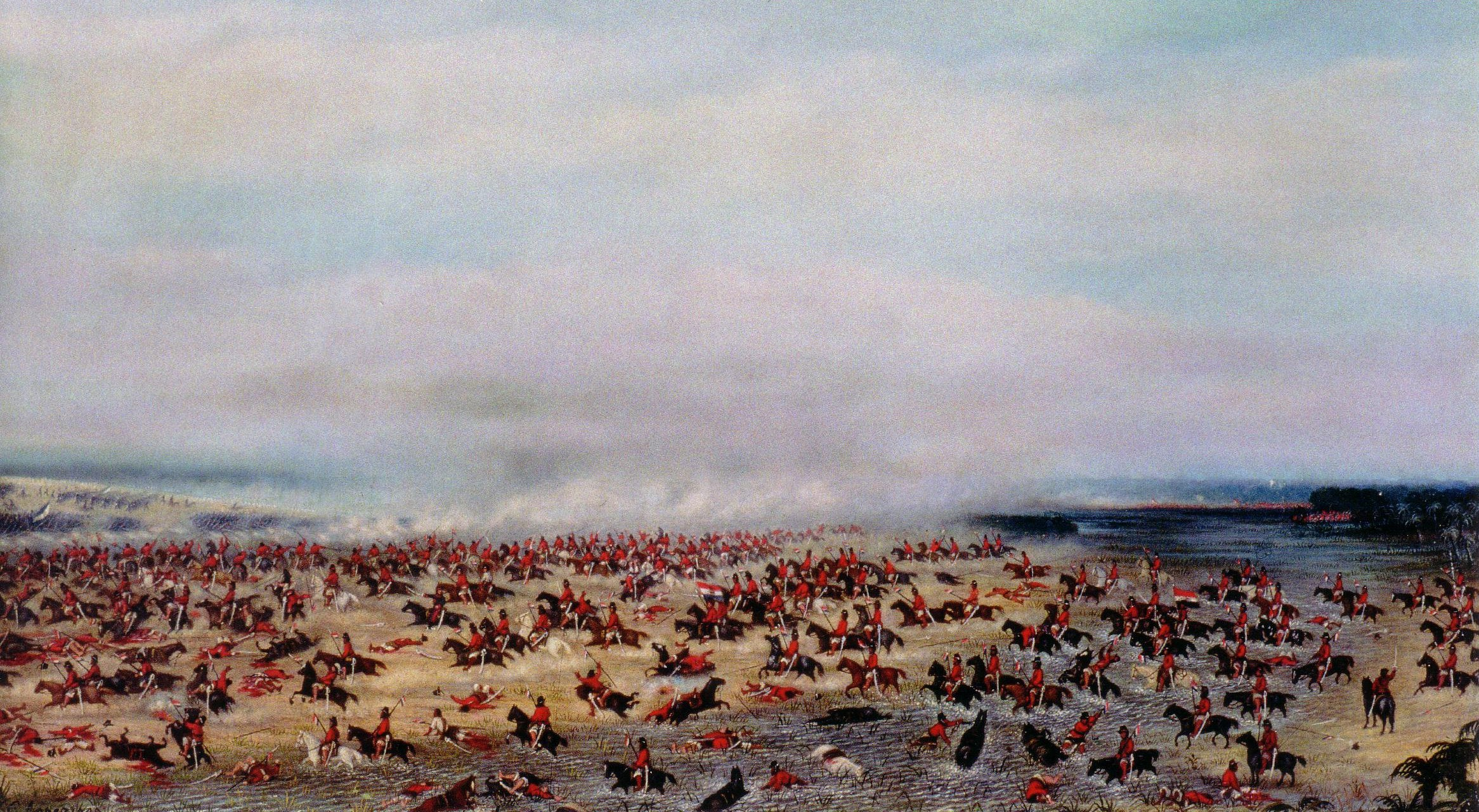 Artist's conception of the battle of Tuyuti (painted 1876-1885 by Candido Lopez) Tuyuti.jpg