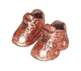 English: Bronzed Baby Shoes