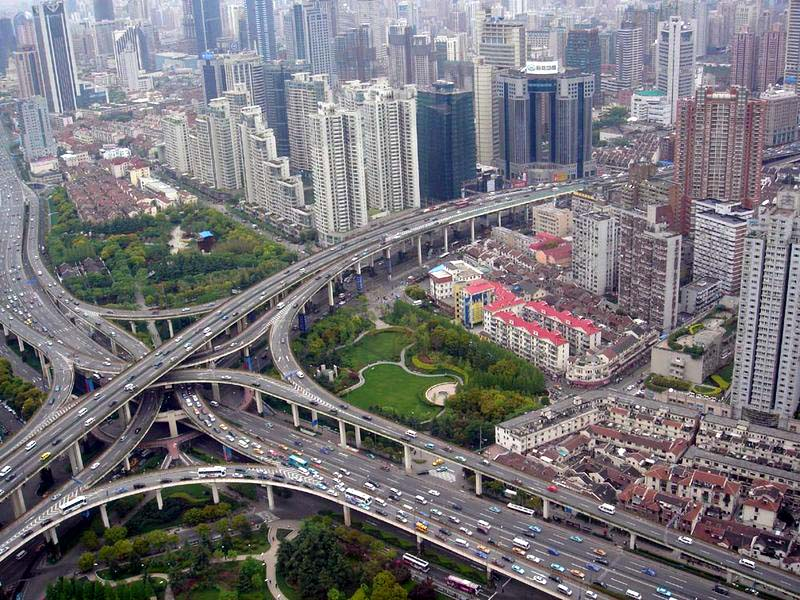 Viaduct in Puxi, Shanghai