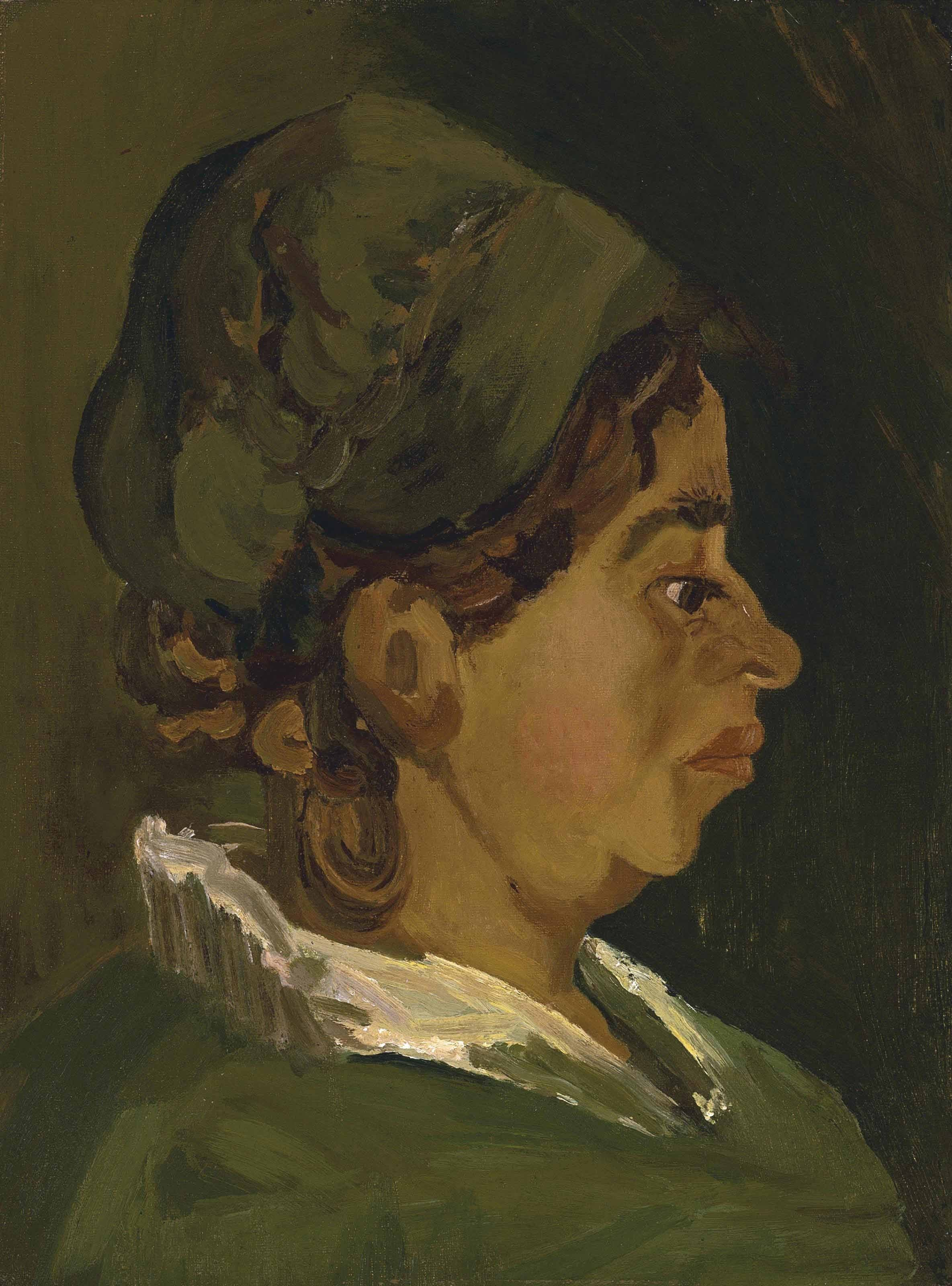 Vincent van Gogh - Head of a Peasant Woman- Right Profile (1884). Ritratto di  contadina ... 4cf56d1ace62