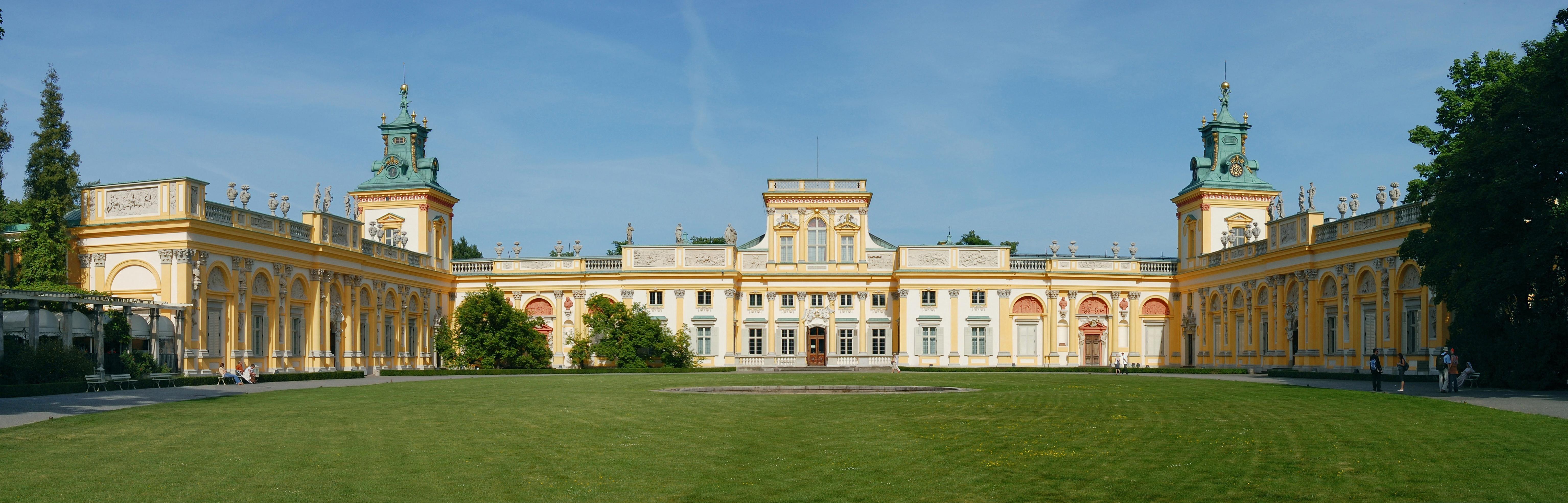 Pałac w Wilanowie – elewacja zachodnia