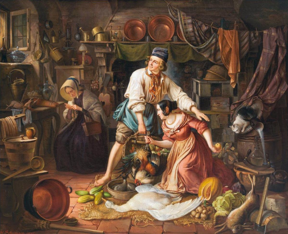 file:wilhelm schumann eva in der garküche - wikimedia commons