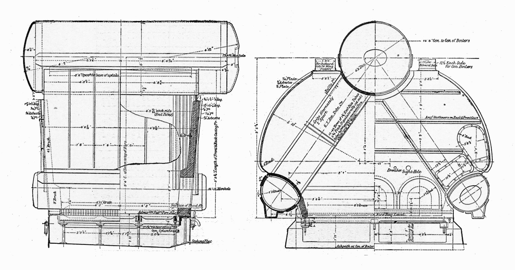 File:Yarrow boiler, sections (Rankin Kennedy, Modern Engines, Vol VI ...
