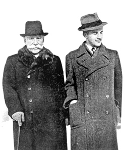 George (i.e. Yuriy) Luckyj and his grandfather Stepan Smal-Stotskyy in [[Prague