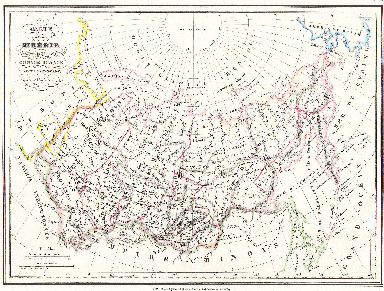 Asia Map Siberia.File 1836 Malte Brun Map Of Russia In Asia And Siberia