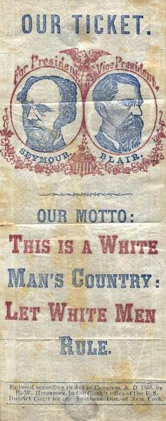 File 1868democraticribbon Png Wikimedia Commons