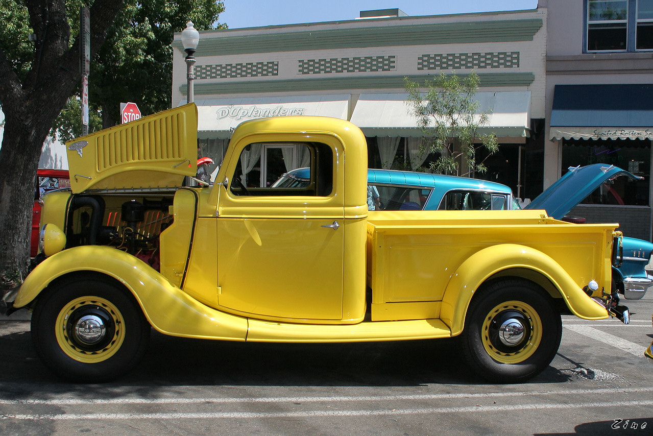 Yellow Ford Pickup Truck Photos