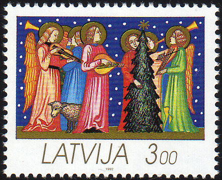 19921121 3rub Latvia Postage Stamp