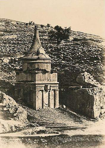 Fichier:A. Salzmann - Tombeau d'Absalon - Jerusalem.jpg