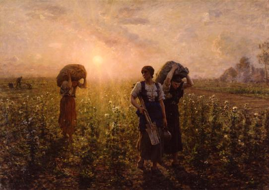 Jules Breton À Travers Champs, 1887