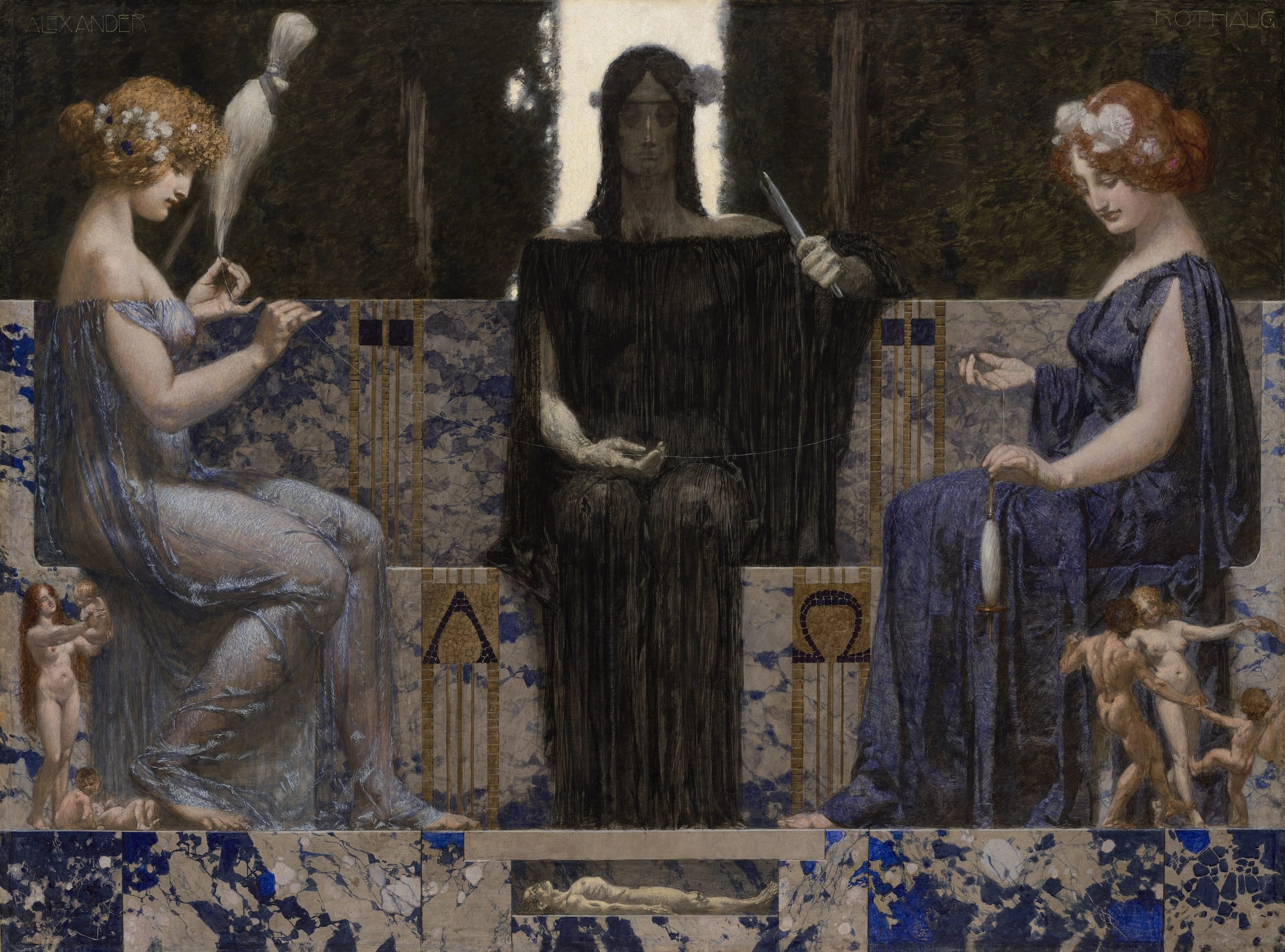 An image of the three Fates.
