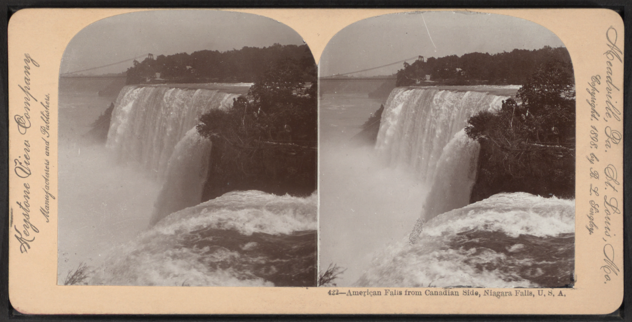 File American Falls From Canadian Side Niagara Falls U S A By Keystone View Company Png Wikimedia Commons