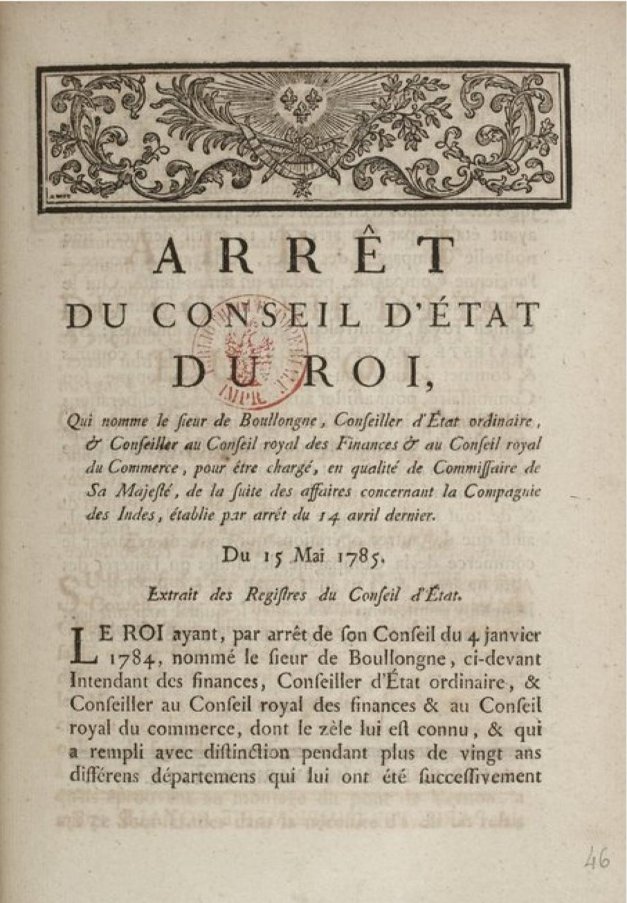 Arrêt Du Conseil D état : file arr t du conseil d 39 etat du roi nomme bollongne 15 mai 1785 wikimedia commons ~ Medecine-chirurgie-esthetiques.com Avis de Voitures