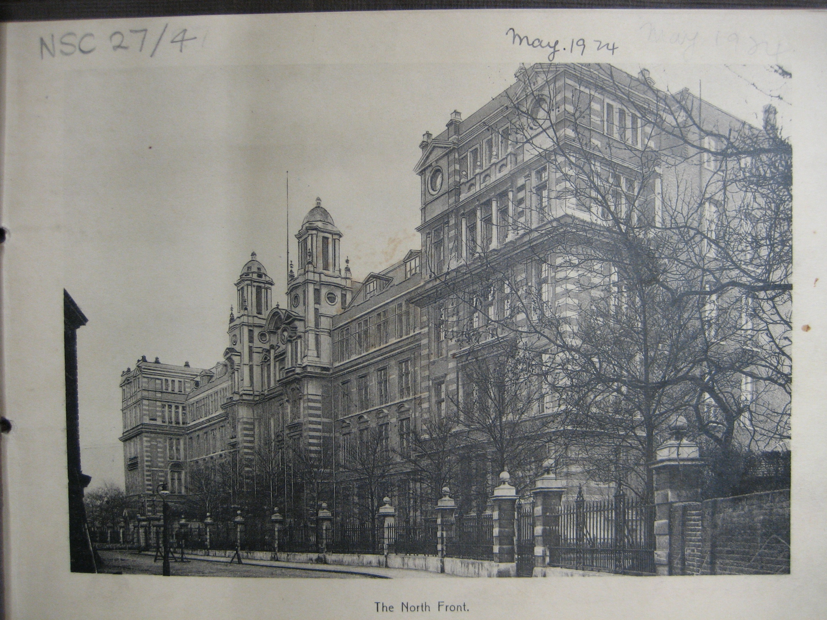 A 1924 view of the main block of Blythe House