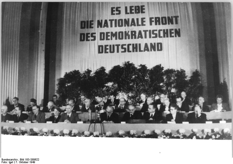Sitzung der Nationalen Front der DDR, 1949