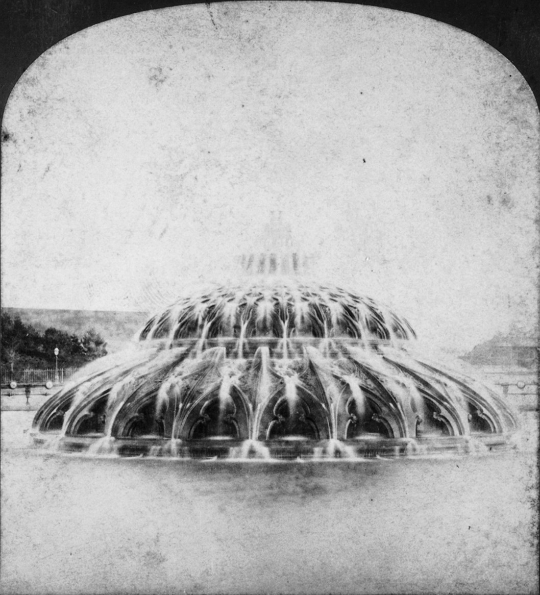 Calvert Vaux Plaza Fountain in 1873