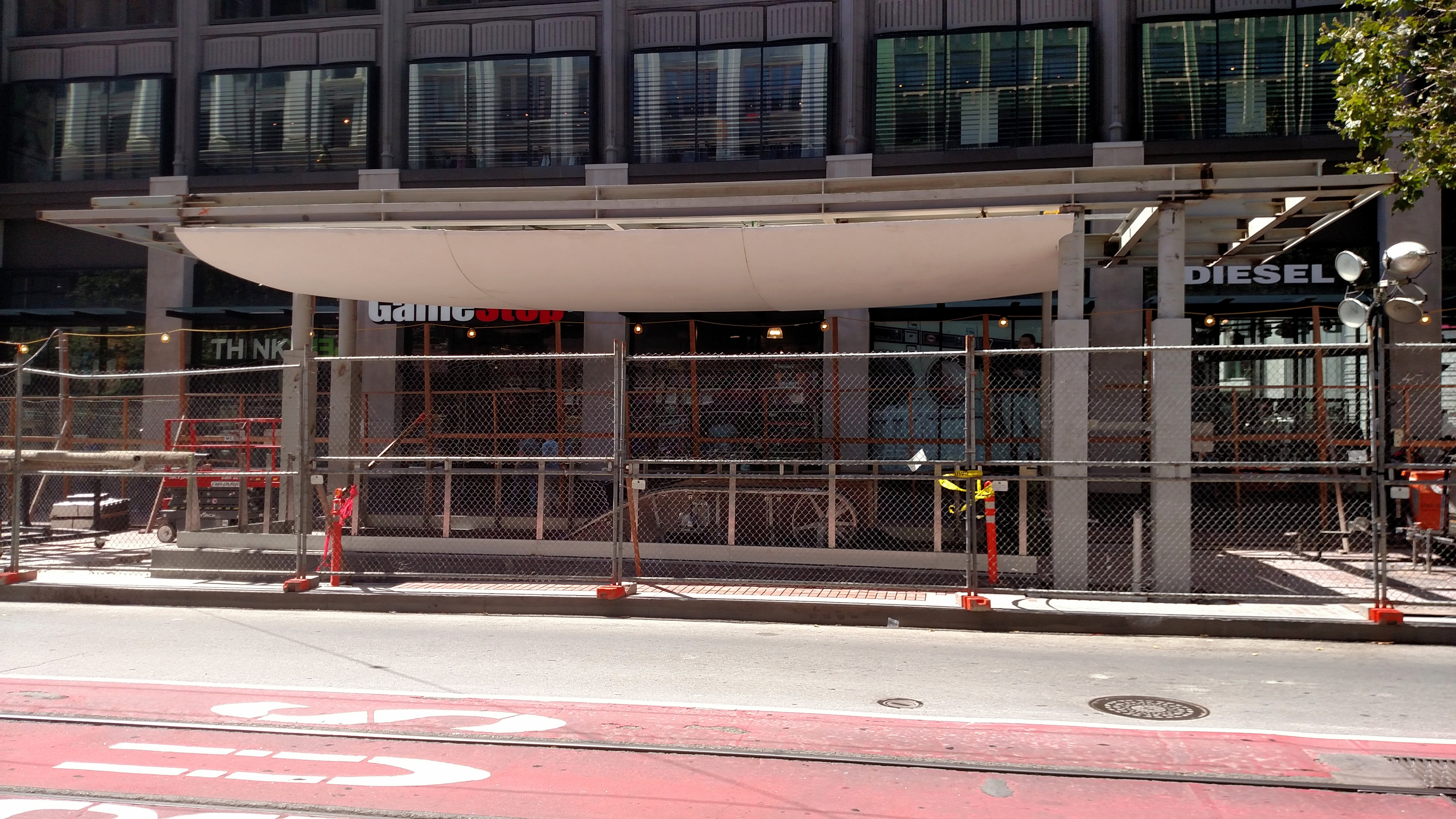 FileCanopy construction at Powell station August 2018.jpg & File:Canopy construction at Powell station August 2018.jpg ...