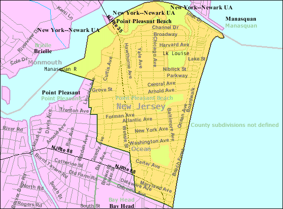 File Census Bureau Map Of Point Pleasant Beach New Jersey Png