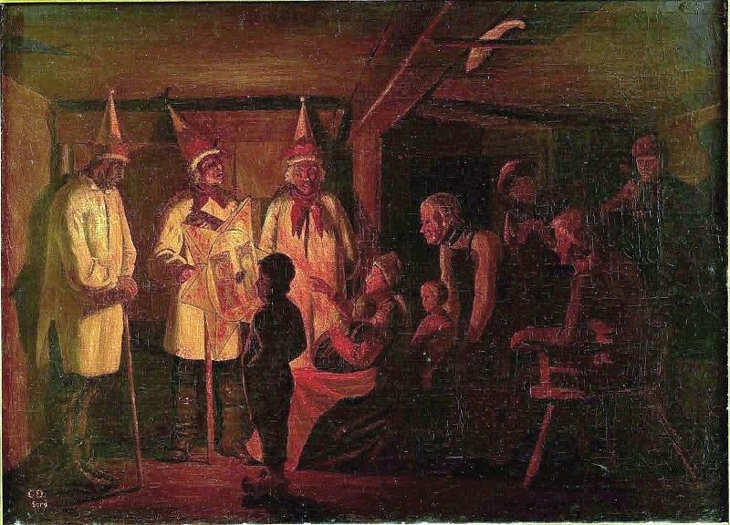 Dateichristen Dalsgaard De Hellige Trekonger Besøger Et Jysk