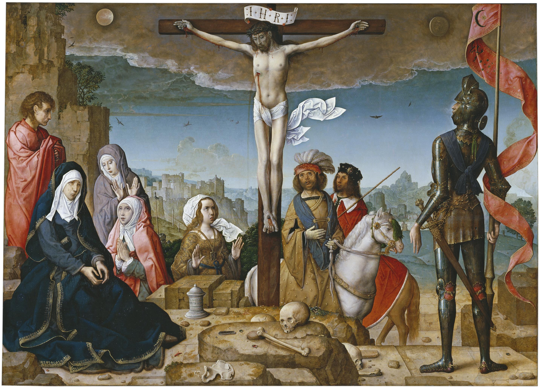 Archivo:Crucifixión Juan de Flandes.jpg